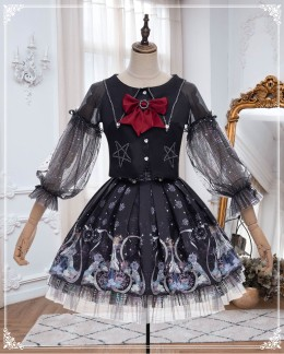 Yinluofu -Rozen Maiden- Halloween Gothic Lolita Skirt and Jacket Set