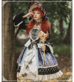 Yinluofu -Sparrow in the Mirror- Classic Lolita OP Dress and Accessories For Autumn and Winter