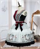 Yinluofu -Sparrow in the Mirror- Classic Lolita JSK and Headband