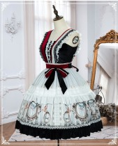 Yinluofu -Sparrow in the Mirror- Classic Lolita JSK and Headband