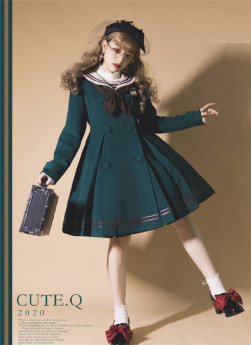 Cute.Q -Sailor Academy- Sailor Lolita Coat for Winter