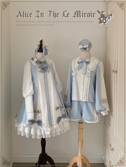 LeMiroir -Alice in the Mirror- Sweet Lolita OP Dress and Ouji Lolita Set
