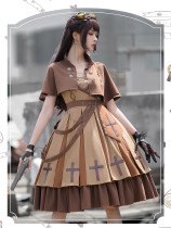 The Dawn Military Ouji Lolita JSK, Cape and Accessoy Set