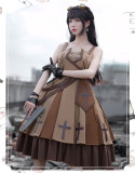 The Dawn Military Ouji Lolita JSK, Cape and Accessoy Set