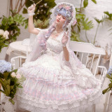 Light of the Dream Gorgeous Tea Party Princess Lolita OP Dress