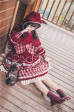 Little Red Riding Hood Sweet Lolita OP Dress and Cape Set for Autumn and Winter