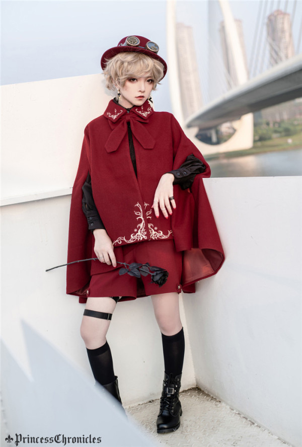 Princess Chronicles -The Fierce Prison Poems- Ouji Lolita Cape for Autumn and Winter