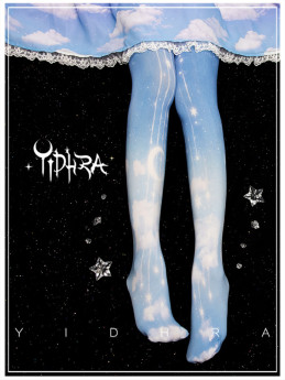 Yidhra -The Moon in the Cloud- Lolita Tights for Spring and Autumn