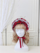 Alice Girl -Strawberry- Sweet Lolita Bonnet