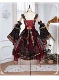 Yinluofu -Eye of Red Heart- Classic Vintage Tea Party Lolita Full Set
