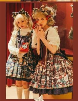 Lost Aqua -Reindeer Girl- Sweet Loltia Salopettes
