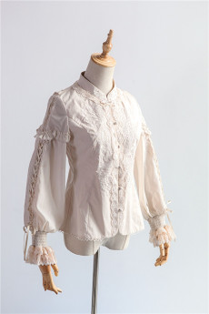 Ichigomikou -Silver and Gold Tree- Classic Embroidered Lolita Blouse