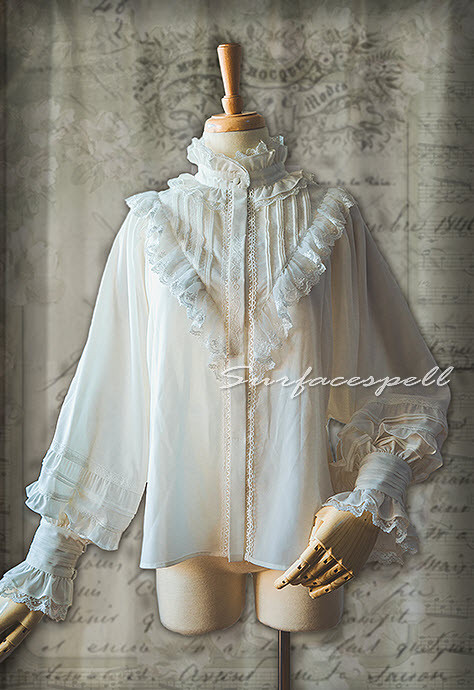 Surface Spell -Unfinished Book- Classic Vintage Lolita Blouse