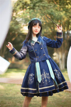 Withpuji -The Covenant of Peace- Classic College Lolita Skirt and Jacket Set