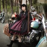 Withpuji -Dream of Autophagy- Gothic Punk Lolita OP Dress