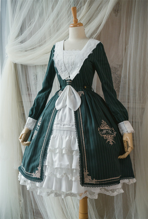 Surface Spell -Unfinished Book- Classic Vintage Lolita OP Dress