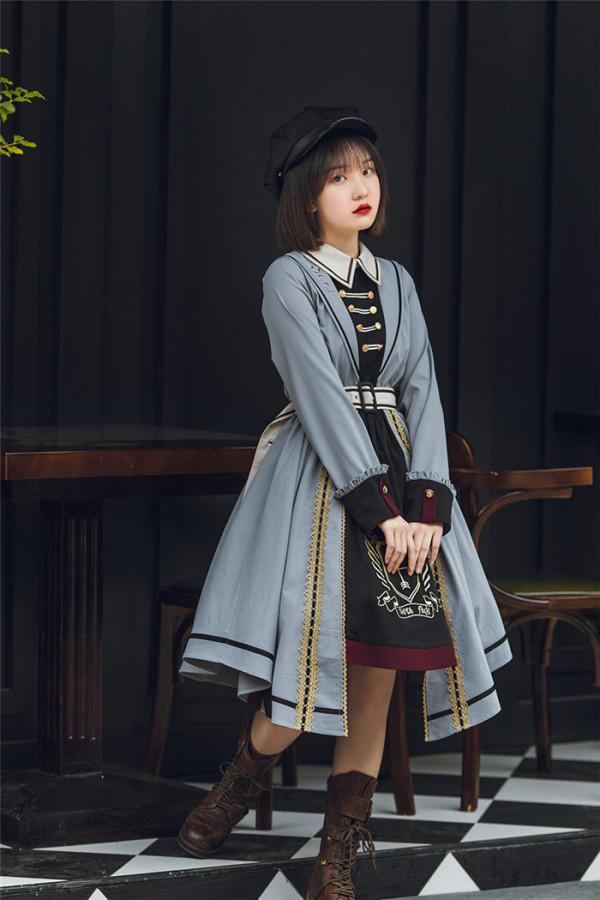 Withpuji -Knights Templar- Ouji Lolita OP Dress