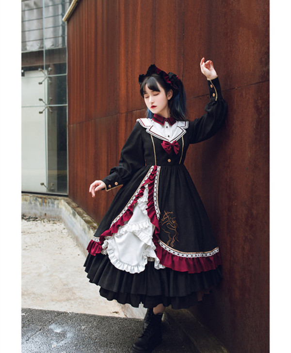 Withpuji -Star in the Winter- Classic Lolita OP Dress for Autumn and Winter