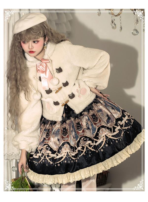Yinluofu -Explore the Stars- Sweet Lolita JSK and Wool Jacket