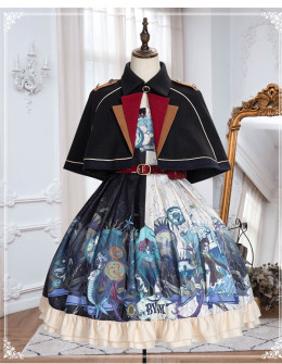 Yinluofu -Chasm- Punk Lolita JSK and Cape