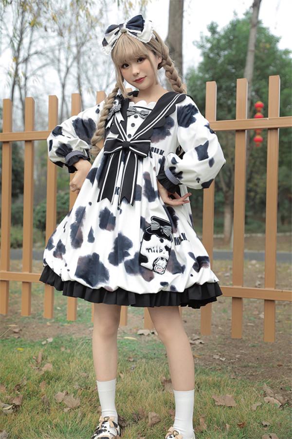 Alice Girl -Bud Cow- Sweet Lolita OP Dress