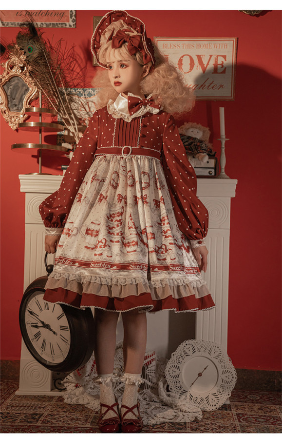 Baduoni -Sweet Tea- Sweet High Waist Lolita OP Dress