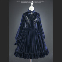 Lingxi -Bramble Rose- Vintage Classic Embroidery Lolita OP Dress