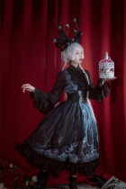 Die Out Gothic Lolita OP Dress and Corset Set