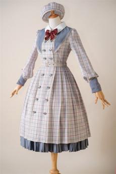 Fantastic Wind -Grid Picture Book- Classic Lolita OP Dress