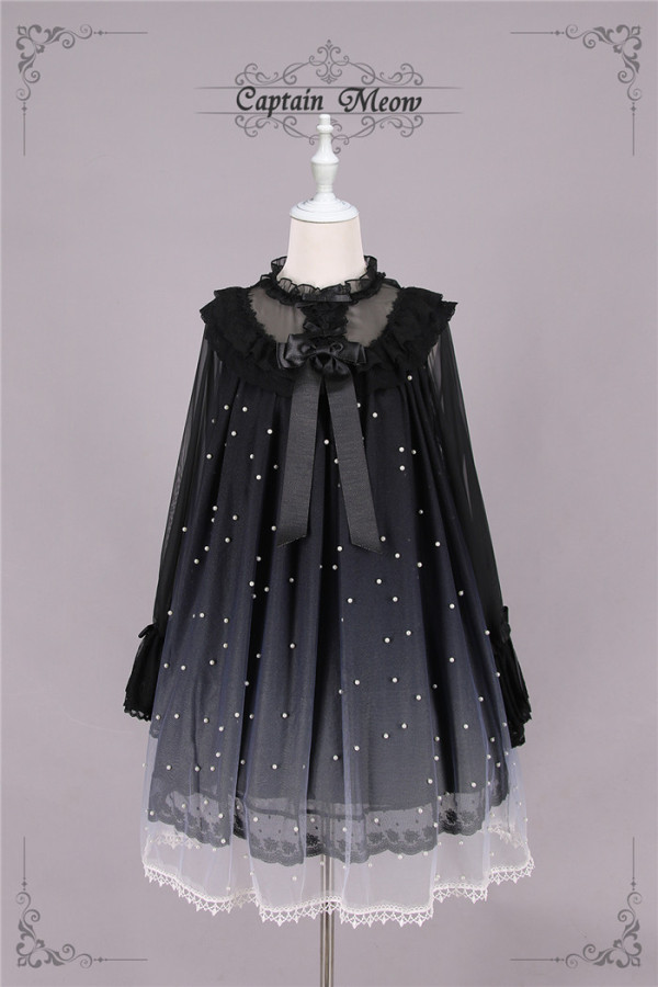 Captain Meow -Daylight Dream- Sweet A Shape Long Sleeve Lolita OP Dress