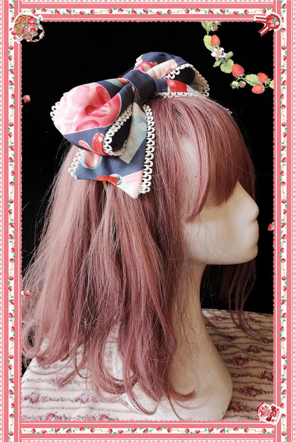 Infanta -The Strawberry- Sweet Lolita Headbow