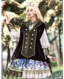 Yinluofu -Deep Cliff- Vintage Classic Lolita OP Dress and Sleeveless Cape