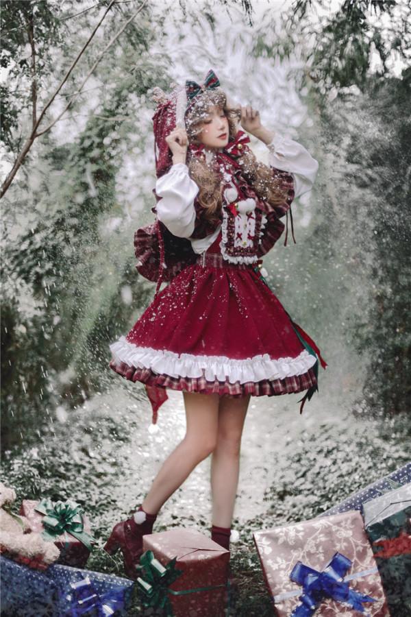 Kiyana -Merry Christmas- Sweet Lolita Salopettes Full Set