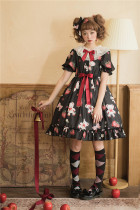 Strawberry and Bear Sweet Lolita OP Dress