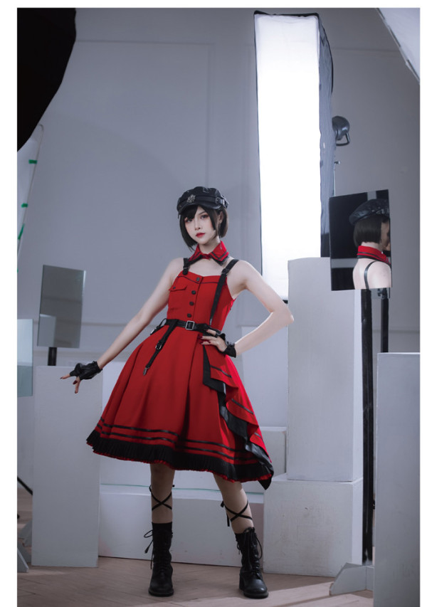 Mordanluna -Bloody Battle- Ouji Lolita JSK with Detachable Collar
