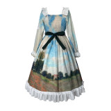 Withpuji -The Antidromic Fool- Classic Countryside Lolita OP Dress
