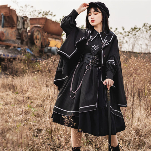 Withpuji -Loyal Chario- Ouji Military Lolita OP and Cape
