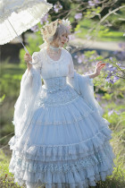 FaeriesDaffodil -Final Design- High Waist Princess Corset Lolita Skirt