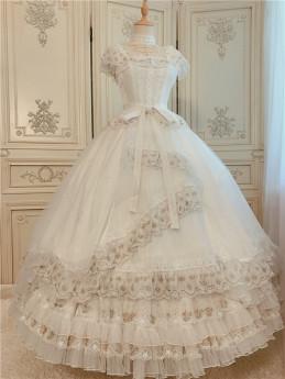 FaeriesDaffodil -Final Design- Princess Lolita OP Dress Full Set