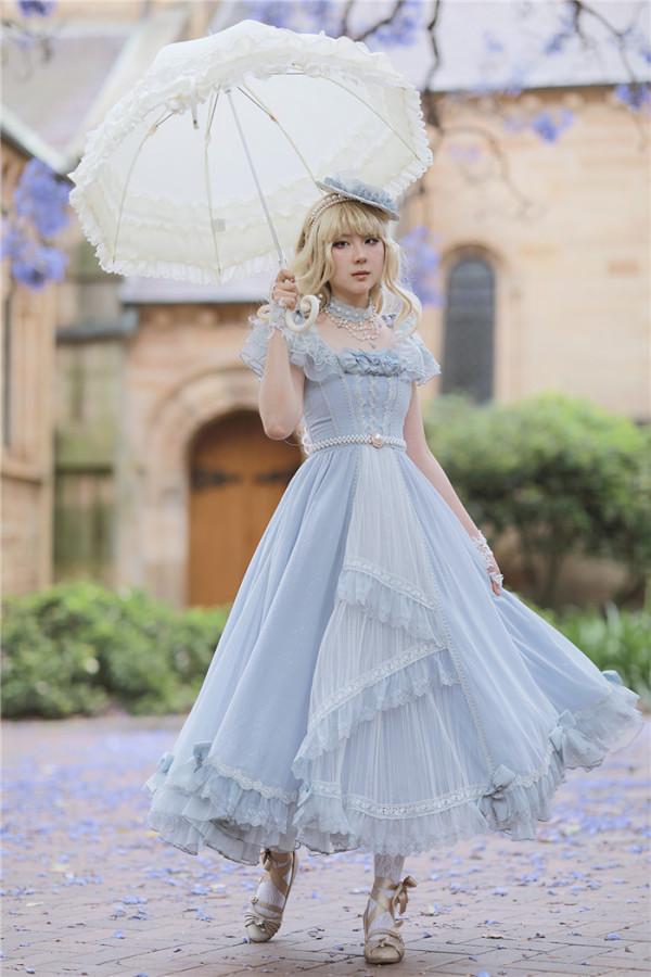 FaeriesDaffodil -Final Design- Princess Lolita OP Dress Long Version and Necklace Set