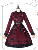 Last Battle Ouji Lolita OP Dress, Cape and Blouse