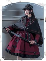 Last Battle Ouji Lolita OP Dress, Cape and Blouse