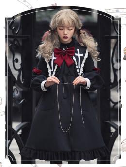 Religieuse Diary Long Lolita Coat Dress for Winter