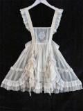 Alice Girl -The Cat Tracery Wall- Lolita Overskirt, Collar and Headdress