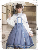 Chirp in the Night Qi Lolita Blouse and Skirt Set