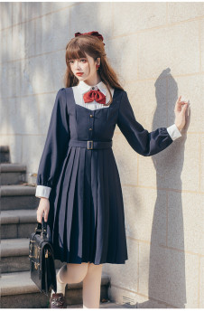 Brocade Garden -Excellent Student- Classic College Lolita OP Dress