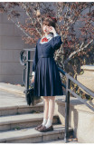 Brocade Garden -Excellent Student- Classic College Lolita OP Dress