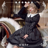 NyaNya -Della- Classic High Waist Lolita OP Dress with Detachable Collar