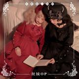 NyaNya -Della- Classic High Waist Lolita OP Dress with Detachable Collar