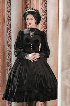 Lalaers -Miss Bronte- Classic Vintage Long Sleeves Lolita OP Dress